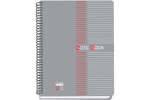 Solo NB 552 Note Book (100 Pages) 2 Colour Printing B5 - Grey