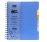 Solo 5-Subjects Note Book (300 Pages, Dividers) Blue Model No NB 555