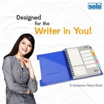 Solo 5-Subjects Note Book (300 Pages, Dividers) Blue Model No NA 555