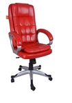 VJ Interio Lovely Executive Hi Back Chair Red 20 X 21 X 30 Inch VJ-0055