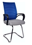 VJ Interio Arreglar Blue Grey Chair With Fix Frame Grey And Blue VJ-0085