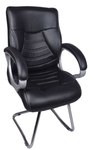 VJ Interio Century Black Visitor Chair With Fix Frame Black VJ-0100