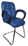 VJ Interio Azul Low Back Visitor Chair Blue 19 X 20 X 21 Inch VJ-0166