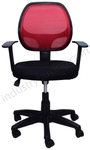 Regent Mesh Chair Red And Black Color 803