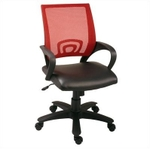 Swift Net Chair Red And Black Color SM 514