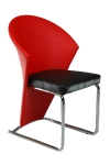 Swift Resturant Chair Red And Black Color SR 901