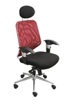 Swift Net Chair Red And Black Color SM 503