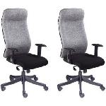 DIVANO Office Low Back Office Chairs Set Of 2 Combo 004