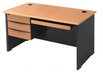 Stellar Standard Table With 3 Drawers And Keyboard Tray Combo