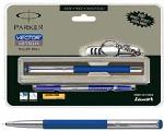 Parker Vector Black Roller Ball Pen With Free MultiUtility Steel Knief