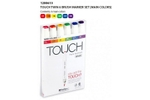Shinhan Brush Marker Assorted Colour Set Of 6 Pcs TMB-6M
