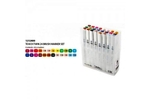 Shinhan Brush Marker Assorted Colour Set Of 24 Pcs TMB-24
