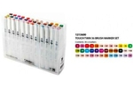 Shinhan Brush Marker Assorted Colour Set Of 36 Pcs TMB-36