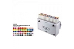 Shinhan Brush Marker Assorted Colour Set Of 60 Pcs TMB-60A