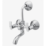 Kerro Wall Mixture With Bend Faucet (Material Brass, Finishing Chrome) - CU 10