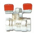 Cimberio 15 Mm Brass Ball Valve CIM RED 5/1