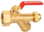 Zoloto 15 Mm Bronze Ball Valve W/Integral Strainer Flare Nut 1085 A