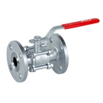 Valson Single Piece Ball Valve (Size- 2.5 Inch Flanged Stainless Steel)