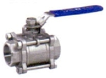Valson Three Piece Ball Valve (Size- 1.5 Inch Screwed M.S Body)