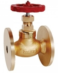 Zoloto 50 Mm Globe Steam Bronze Flanged Stop Valve 1042