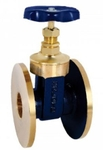 Zoloto 32 Mm Bronze Flanged Gate Valve 1036