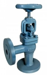 Zoloto 65 Mm Flanged Angle Pattern Cast Iron Globe Steam Stop Valve