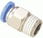 Aeroflex 1/8 Inch Straight Connector With Male Thread 0418 4 Mm C 0418