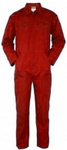 Ishan Small Red 380 Gsm Cotton Fabric Boiler Suit - 2 Pcs - 5408
