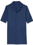 Ishan Navy Blue XXL Cotton / Satin Fabric Lab Coat - 1 Pcs - 5444