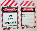 Asian Loto ALC-LT-SC Single Colour Printing Do Not Operate Lockout Tag