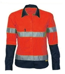 Karam Safe Polyester Cotton Reflective Jacket Red Color WM 005