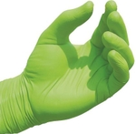 RMH Coated Gloves Green Pack Of 100 Pair
