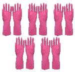 Nebel India Rubber Hand Gloves L In Pink NEBEL05L50 - Pack Of 5 Pair