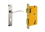 Dorset Lock Set With Lock Body And Without Cylinder Stainless Steel ML SER