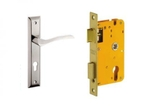 Dorset Lock Set With Lock Body And Without Cylinder Stainless Steel ML FIN