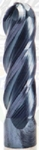 Rohit Tools 1X TiAlN GP Ball Nose End Mill FD 1 Mm FL 4 Mm SD 3 Mm Z- 2